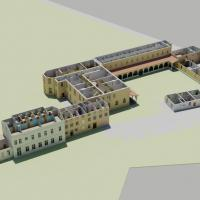 Abbaye Saint Pierre reconstruction (using laser scan), Mas-Grenier, France, 2014/2015